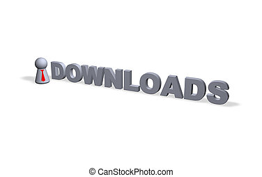 downloads text in 3d