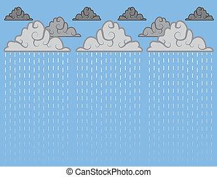 Downpour Blue  - Downpour of rain with blue sky
