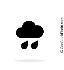 Downpour weather icon on white background. Vector...