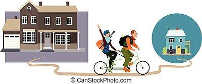 downsizing, casa, pequeno, minimalists