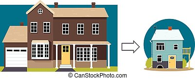 Downsizing - From a big family home to a small retirement...