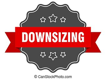 downsizing label. downsizing isolated seal. sticker. sign - ...