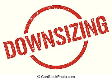 downsizing stamp - downsizing red round stamp