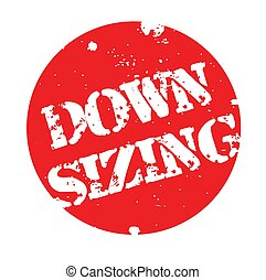 Downsizing stamp typ - Downsizing stamp. Typographic label,...
