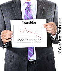 downsizing business concept