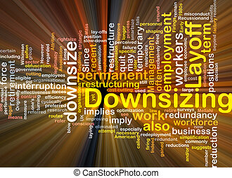 downsizing word cloud box package - Software package box...