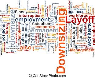 downsizing word cloud
