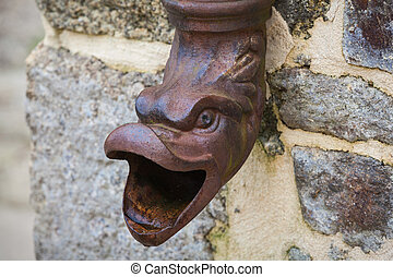 downspout Dinan Brittany
