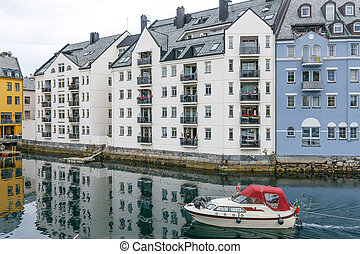 Downtown Alesund, Norway