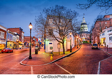 Downtown Annapolis, Marlyand - Annapolis, Maryland, USA...