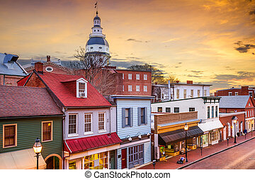 Downtown Annapolis Maryland - Annapolis, Maryland, USA...