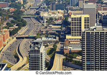 Downtown Atlanta Abstract
