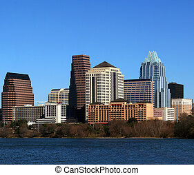 Downtown Austin Texas Cityscape - The downtown austin texas...