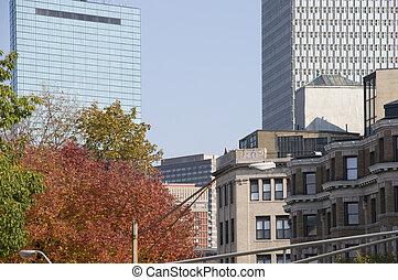 Downtown Boston in Fall
