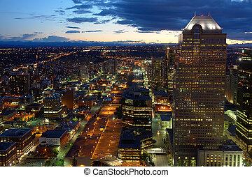 Calgary at night - Downtown Calgary at night, Canada
