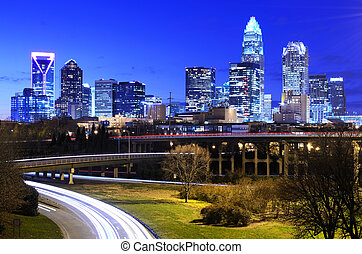 Charlotte - Downtown Charlotte, North Carolina, USA skyline