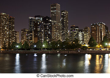 Downtown Chicago at Night