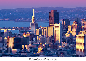 downtown, cityscape, francisco, san