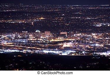Downtown Colorado Springs at Night. Colorado Springs Night...