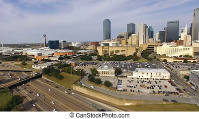 Downtown Dallas Texas City Skyline South United States North...