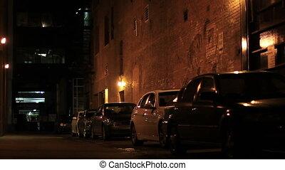 downtown dark alley man
