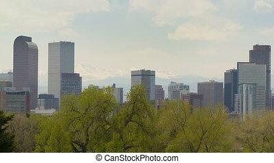 Downtown Denver Skyline - The Denver, Colorado skyline on a...