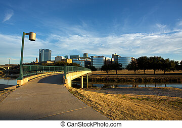 Downtown Fort Worth Texas - View of Downtown Fort Worth from...
