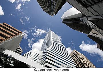 Brisbane - Downtown in Brisbane, Australia. Urban area with ...