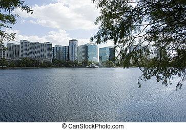 Downtown Lake Eola - Park in Orlando, Flroida