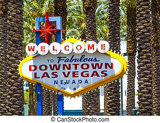 Downtown Las Vegas welcome sign