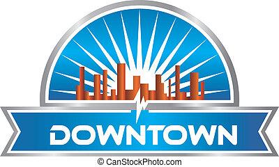 downtown, logo