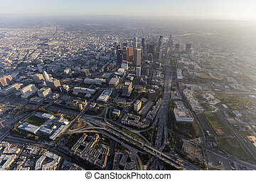 Downtown Los Angeles California Aerial