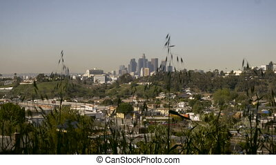 """Downtown Los Angeles, California dolly shot"" - ""Downtown..."