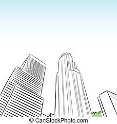 Downtown Los Angeles Financial District - An image of a...