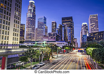 Downtown Los Angeles - Los Angeles, California, USA early...