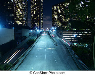 downtown los angeles, nacht