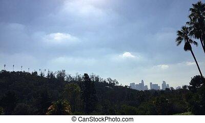 Downtown Los Angeles Skyline Motion Time Lapse Skyline