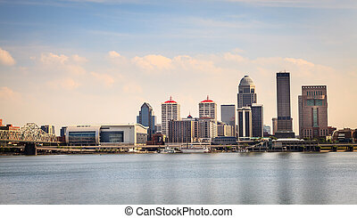 Downtown Louisville skyline - View of Louisville, Kentucky ...