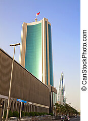 Image of downtown Manama, Bahrain.