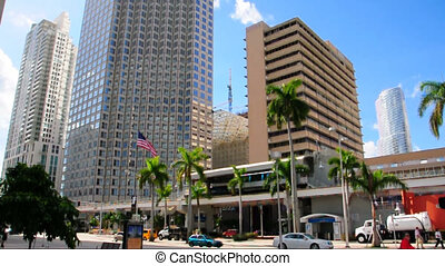 Downtown Miami - Scene in downtown Miami on a sunny day