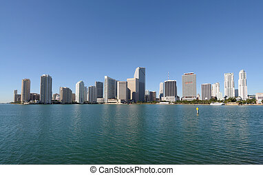 downtown, miami skyline, florida, usa