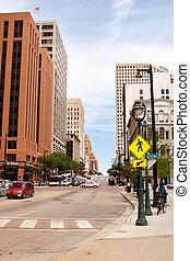 Downtown Milwaukee, Wisconsin a street veiw