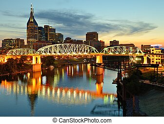 Downtown Nashville - Skyline of downtown Nashville,...