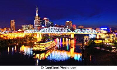 Downtown Nashville Time Lapse