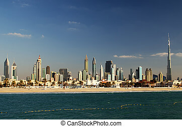 Downtown of Dubai (United Arab Emirates). The view from the ...