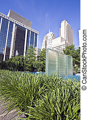 Downtown of Oklahoma City - Fountain in Downtown of Oklahoma...