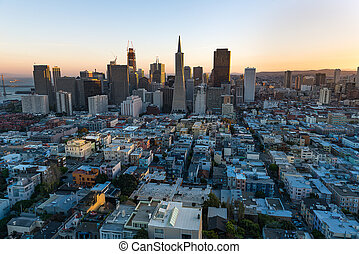 Downtown of San Francisco