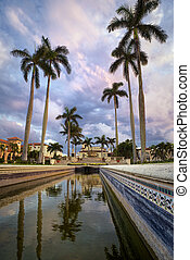Palm Beach - Downtown Palm Beach view with beautiful sky and...