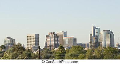downtown, panorama, feniks