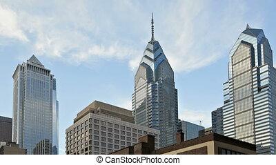 Downtown Philadelphia - Skyline of downtown Philadelphia,...